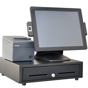 Touch Dynamic Pulse Ultra All-in-One POS in a special bundle for Veezi customers with Epson printer and APG cash drawer